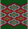 Knit Seamless Jacquard Ornament Pattern vector image
