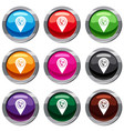 map pointer with phone handset set 9 collection vector image