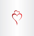 mother and daughter love heart icon red logo vector image
