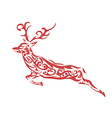 ornamental deer vector image