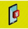 smartphone service isolated icon design vector image