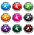 snowboarder set 9 collection vector image