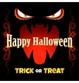 Halloween Card with Monsters Mouth vector image
