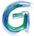 Watercolor Font LETTER G vector image