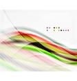 Modern hi-tech glossy glass wave vector image