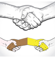 Set of shaking hands vector image
