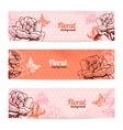 Vintage floral banners vector image