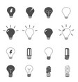 lightbulb and led lamp icons set vector image