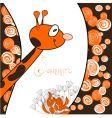 cartoon giraffe card vector image