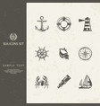 nautical sign vector image