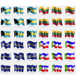 Bahamas Lithuania Nauru Khakassia Set of 36 flags vector image