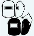 Protective welding mask helmet vector image vector image