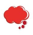 red conversation bubble vector image