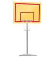 basketball hoop cartoon vector image