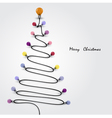 Colorful light bulbs and Christmas tree symbol vector image