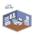 isometric floor plan of living entertainment room vector image