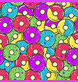 seamless pattern colored donuts vector image