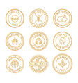 set of badges and labels for natural and organic vector image