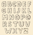 sketch alphabet vintage engraving style vector image