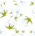 cotton plant seamless pattern vector image