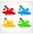 Pencil and color clouds vector image