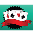 Game of cards vector image