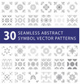seamless symbol pattern swatches pack vector image