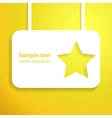 Yellow star applique background for your starlit vector image