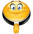 priest emoticon vector image
