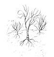 Dead Tree Sketch3 vector image
