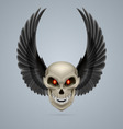Mutant skull vector image