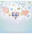 Hearts background in pastel colors vector image vector image