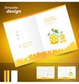 booklet catalog brochure folder honey mead bee vector image