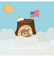 Greeting card to groundhog day Beginning spring vector image