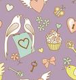 wedding pattern on violet vector image