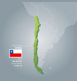 chile information map vector image