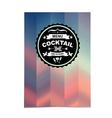 Cocktail bar menu template design vector image