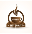 Coffee shop trendy background with coffee cup vector image