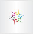 Colorful arrows sign symbol design vector image