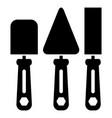construction shovels icon building symbol vector image