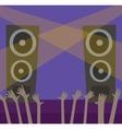 Music scene background vector image