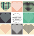 set of hipster hearts art vector image