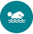 Swimming Person vector image