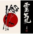 Zen circle bamboo vector image