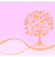 abstract heart tree vector image