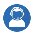 Emblem technical support assistant icon vector image