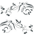 collection of floral swirl borders for your design vector image