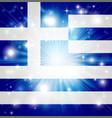 greek flag background vector image vector image