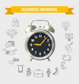 business morning round composition vector image