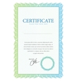 Template border diplomas certificate and currency vector image vector image